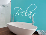 relax wall sticker white