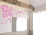floral wall sticker pink