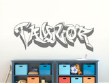 personalised graffiti wall art sticker