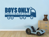 truck wall sticker