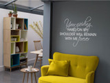 your guiding hand quote wall sticker silver