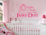 faith trust and fairy dust quote pink