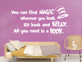 you can find magic wherever you look wall decal white