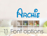 personalised name wall stickers archie