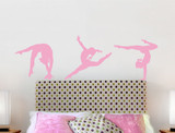 gymnastics wall stickers pink