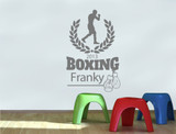 personalised boxing wall sticker