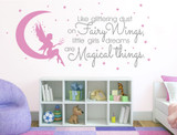 magical fairy bedroom sticker quote