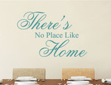 theres no place like home wall sticker aqua green