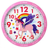 Ravel Time Teacher Pink Unicorn Wall Clock - R.KC.04