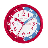 TIKKERS Children's Time Teacher Wall Clock - Red