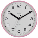 Acctim-Runwell-Blush-Pink-Wall-Clock