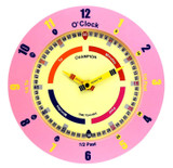 CHAMPION TIME TEACHER PINK WALL CLOCK - CTT369
