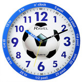Ravel Time Teacher Blue Football Wall Clock - R.KC.01