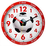 Ravel Time Teacher Red Football Wall Clock - R.KC.02