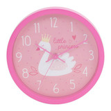 Widdop-Swan-Princess-Pink-Wall-Clock