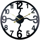 Black Metal Cut Out Wall Clock - 40cm
