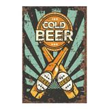 Cold-Beer-Vintage-Metal-Wall-Sign