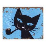 Humorous-Black-Cat-Metal-Wall-Sign