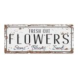Fresh-Cut-Flowers-Metal-Vintage-Wall-Sign