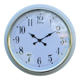 Large White Silver Rimmed Wall Clock - 56cm