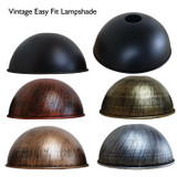 21cm Easy Fit Metal Dome Light Shades