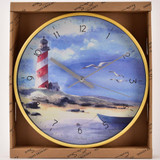 By The Seaside Clock - Lighthouse by Finola Stack