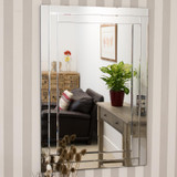 Luxford All Glass Bevelled Large Dress Mirror 120 x 80 CM