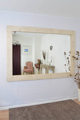 Natural Wood Extra Large Wall Mirror 213 CM x 152 CM