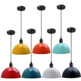 Suspended Ceiling Pendant Domed Metal Shade