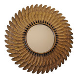 Bronze Effect Feather Wall Mirror