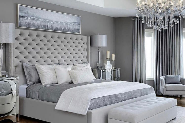 11 Stunning Grey and Silver Bedroom Ideas for your home - Aspect