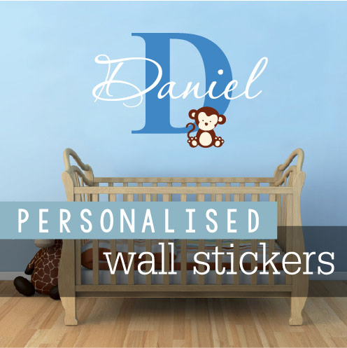 personalised wall stickers banner link
