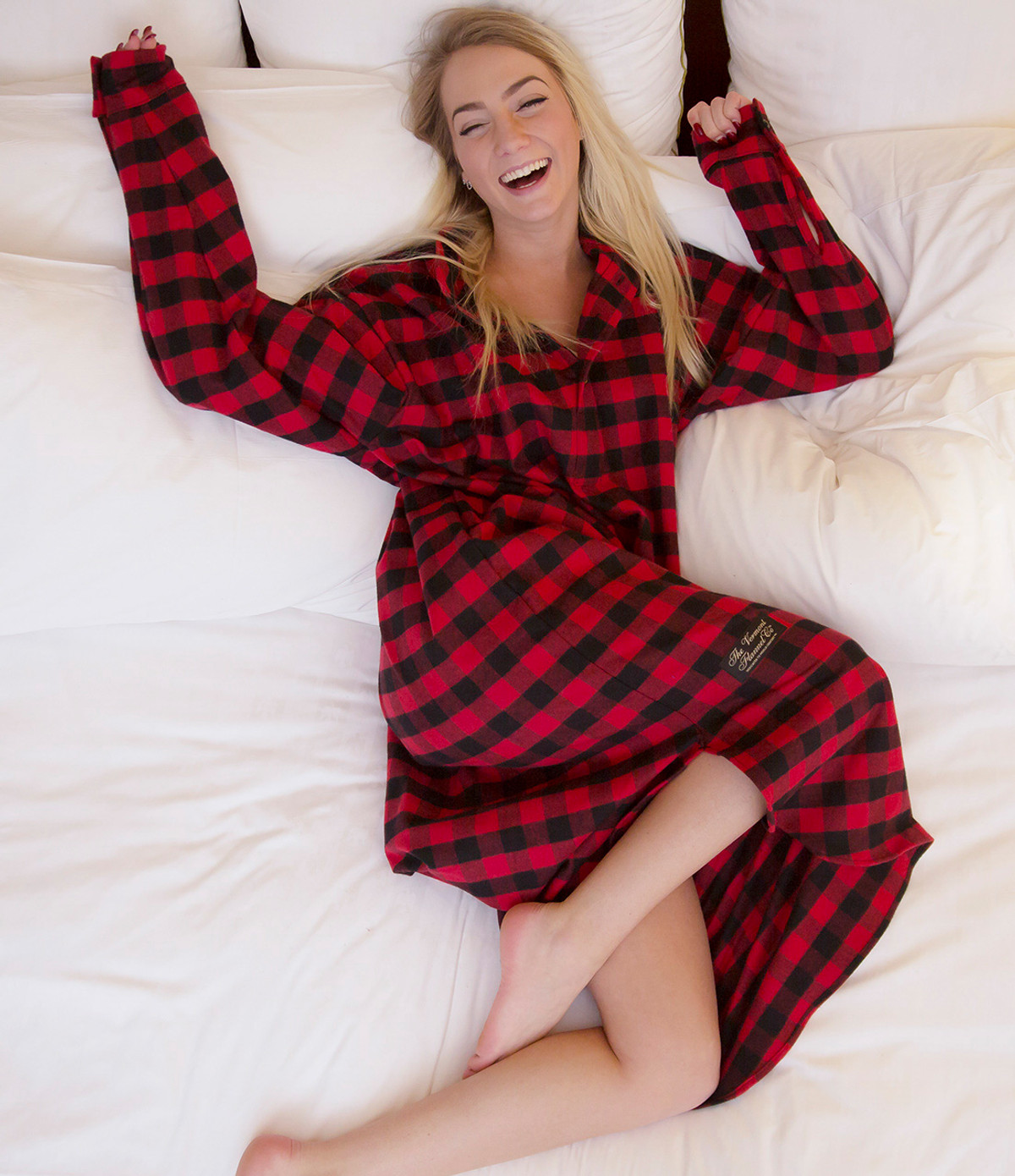 Long Night Shirt - Handcrafted USA - The Vermont Flannel Co. 54d0d1a94