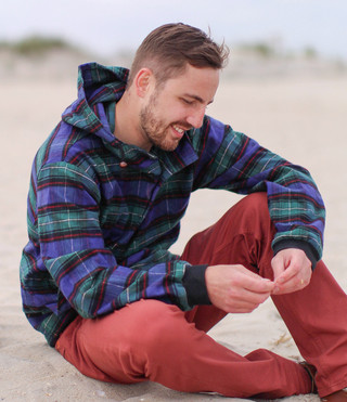 Hooded Flannel Pullover - Vermont