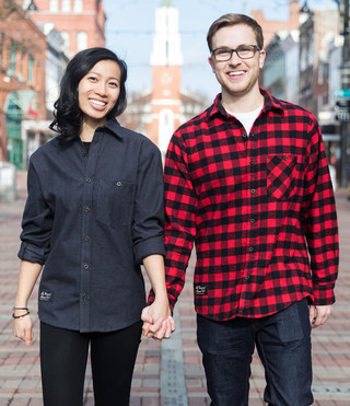 Fitted Flannel Shirt - Red Buffalo/Dark Gray