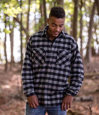 Men's Classic Flannel Shirt - Gray Buffalo