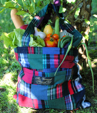 Flannel Tote Bag - Patchwork
