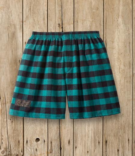 Flannel Sleep Shorts - Green & Black
