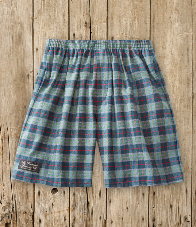 FLANNEL CAMP SHORTS