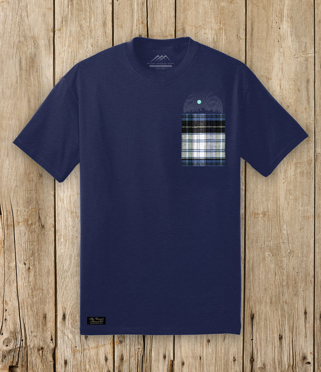 ELEVATED POCKET TEE - NAVY CAMPBELL - FRONT