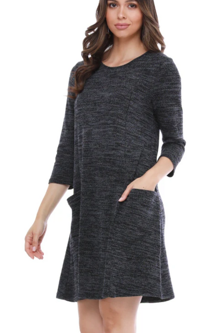 Aryeh Amy Quarter Sleeve Knit Dress