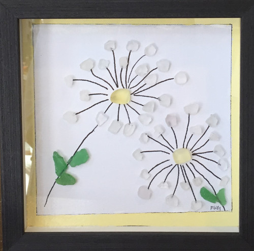 Sea Glass Art - Daisy Days