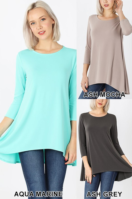 ITY High Low 3/4 Sleeve Top