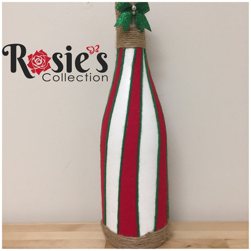 LED Wine Bottle Red White and Green Table Decor 6