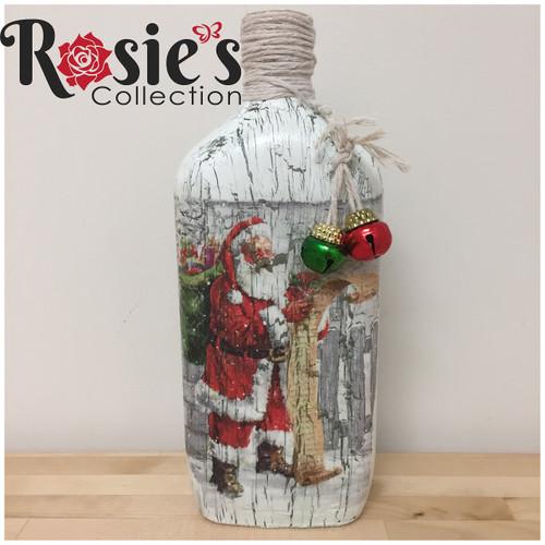 Non LED Wine Bottle with Santa Table Decor 10