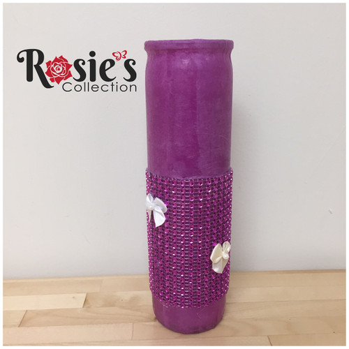 Purple candle with Bows Table Décor 18