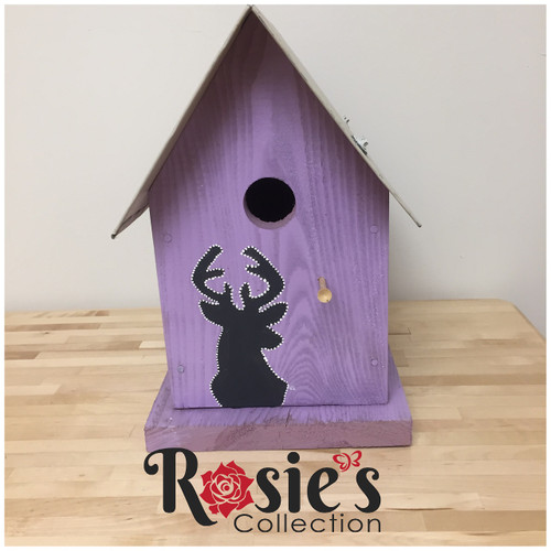 Upcycled Bird house with deer