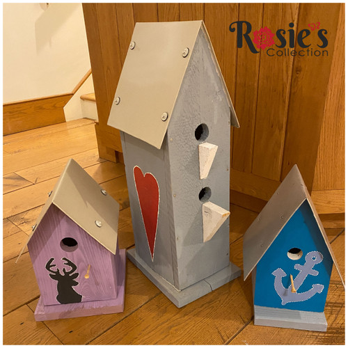 Upcycled Bird house with 2 holes