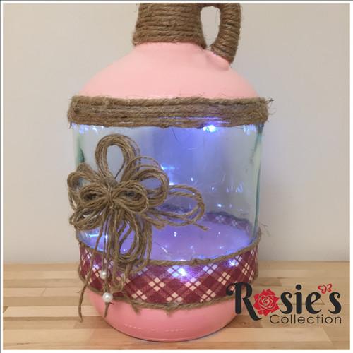LED Pink Bottle Table Décor