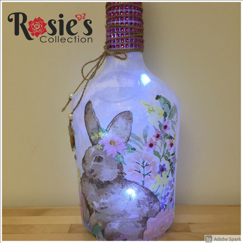 LED Bunny Bottle Table Décor